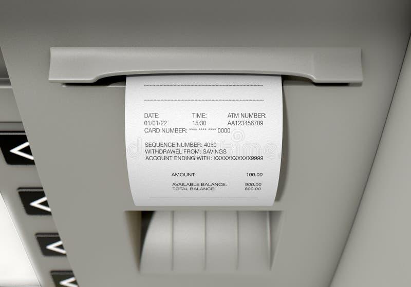 ATM Slip Withdrawel Receipt royalty free stock photo