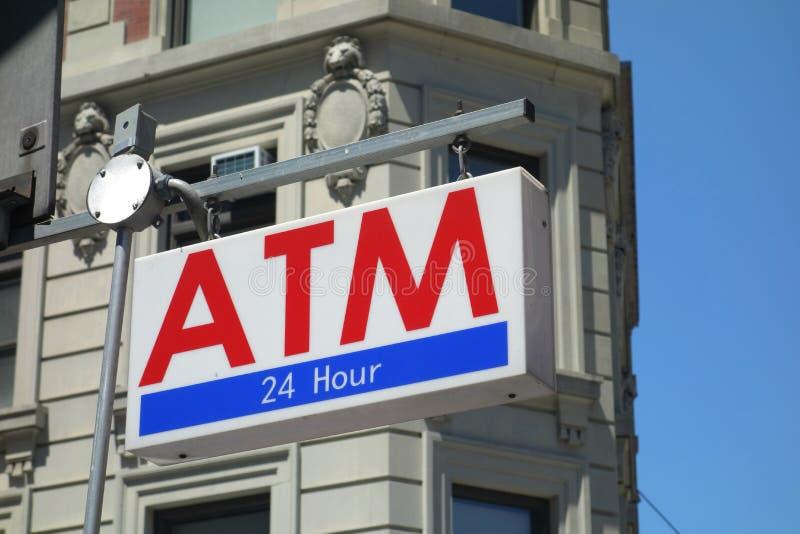 ATM-Teken royalty-vrije stock foto's