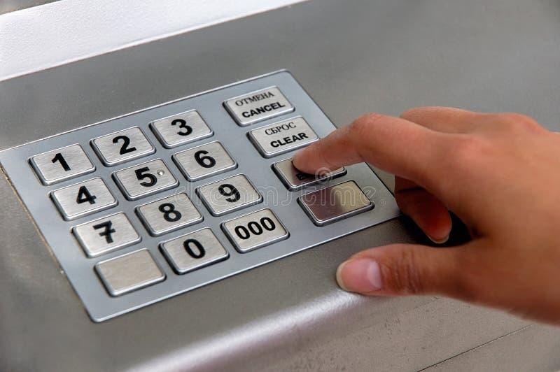 ATM-Vorwahlknopf stockbilder
