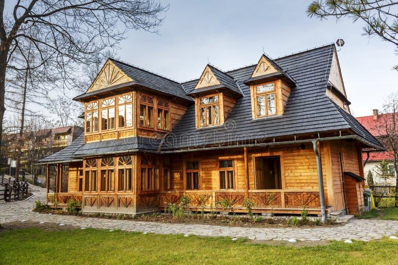 Atma hus i Zakopane royaltyfri fotografi