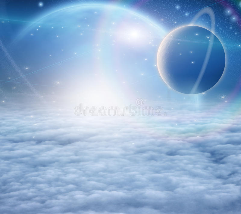 Atmosfeer en planeten royalty-vrije illustratie