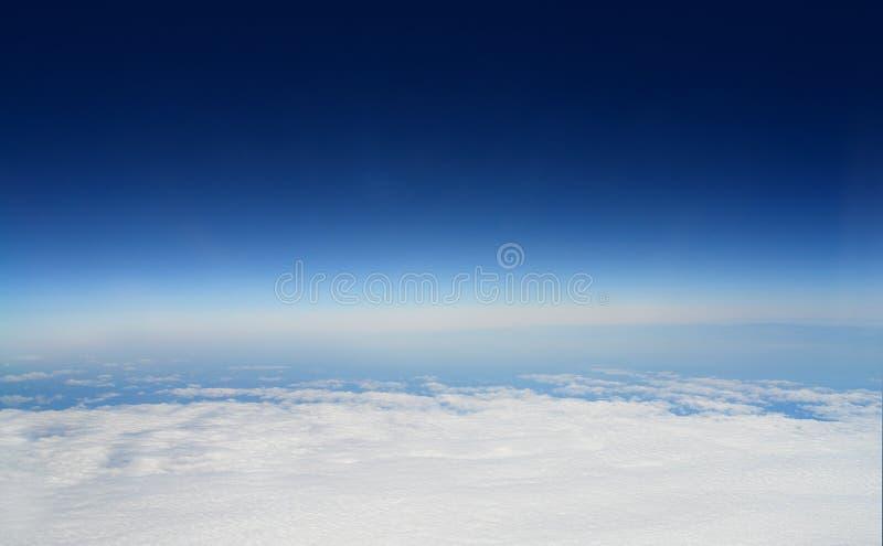 Atmosfeer van de aarde stock afbeelding