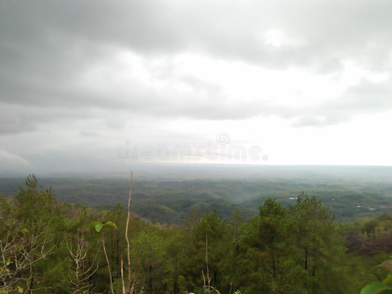 Atmosfera chmurny turystyczny punkt zdjęcie stock