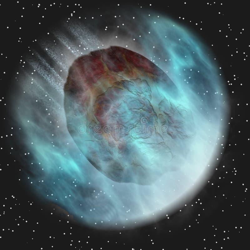 Atmosfera da Terra entrando do meteoro ilustração do vetor