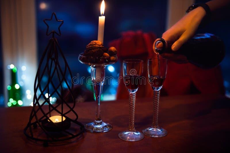 Atmosfera do ano novo, romance, celebração fotos de stock