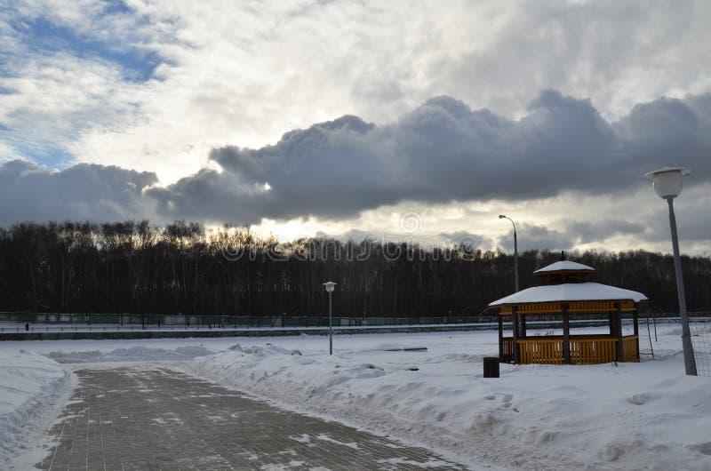 Atmosfera do inverno fotos de stock