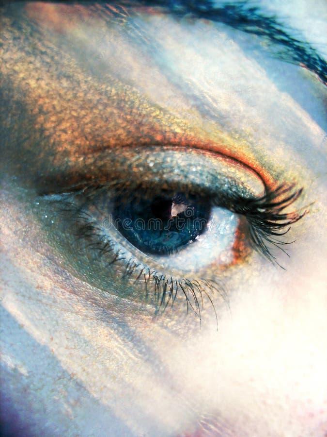 Atmosfera do olho imagens de stock