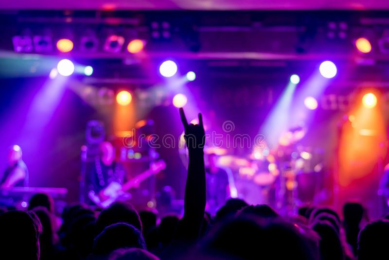 Atmosfera magica al concerto immagine stock