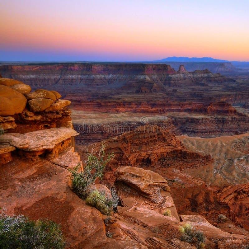 Atmosfera su esposizione nel canyon fotografie stock libere da diritti