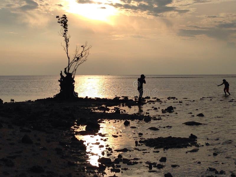 Atmosfera sull'isola del tidung fotografia stock