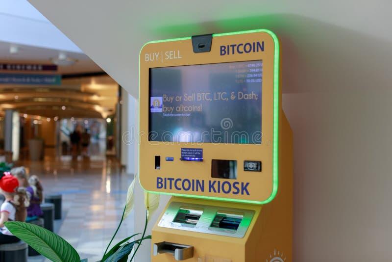 Atmosphère de Bitcoin dans l'endroit pionnier, centre commercial à Portland photographie stock libre de droits