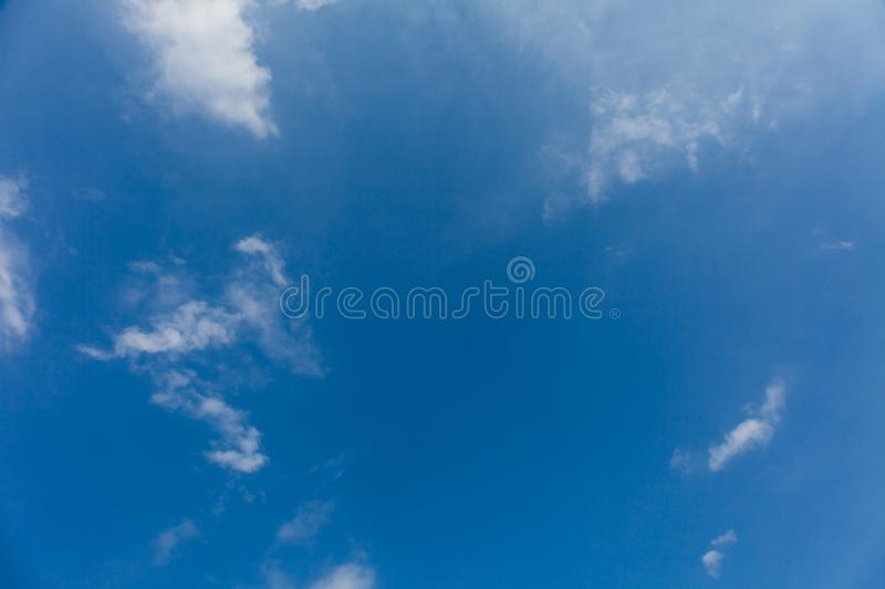 Atmosphere background, nature ozone, white clouds, blue sky.  royalty free stock images