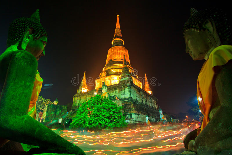 Atmosphere In Buddhism Day At The Temple Royalty Free Stock Photos