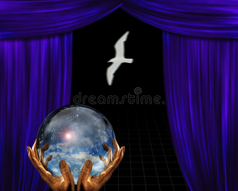 Atmosphere contained on stage royalty free illustration