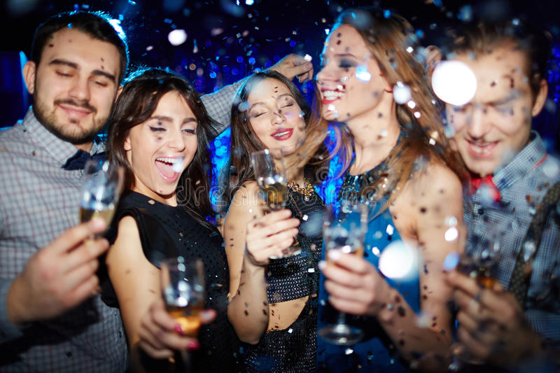 Atmosphere of party royalty free stock photos