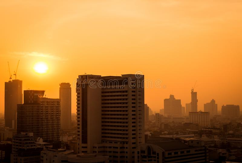 The atmosphere of poor air pollution PM2.5 royalty free stock photography
