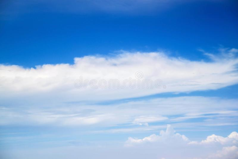 Atmosphere space air sky and clouds. Weather planet Earth background. royalty free stock image