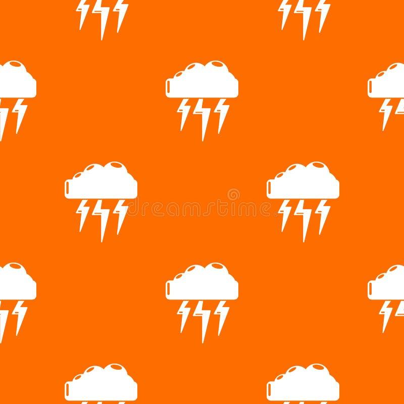 Atmospheric electricity pattern vector orange. For any web design best vector illustration