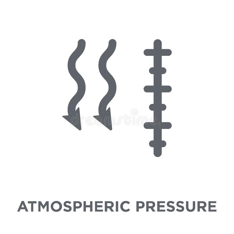 Atmospheric pressure icon from Weather collection. Atmospheric pressure icon. atmospheric pressure design concept from Weather collection. Simple element vector vector illustration