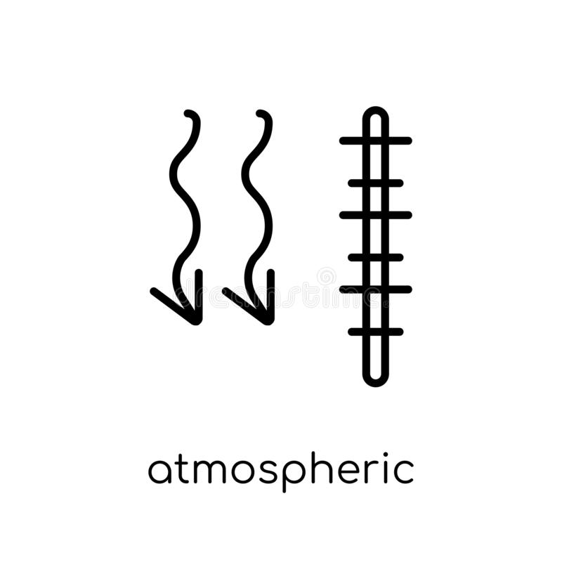 Atmospheric pressure icon from Weather collection. Atmospheric pressure icon. Trendy modern flat linear vector atmospheric pressure icon on white background vector illustration