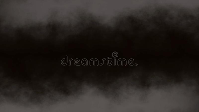 Atmospheric Smoke, Fog, cloud, smooth Movement, Modern abstract background animation 3d render.  stock illustration
