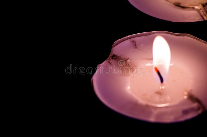 Romantic Candle light with stars stock image