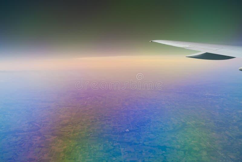 Atmospheric Wing stock image