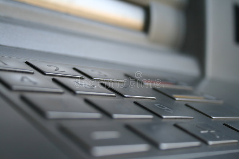 ATMs keyboard. Keyboard of the ATM in macro stock photos