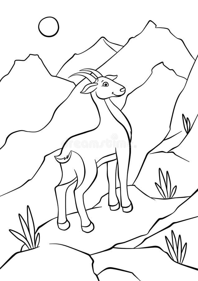 Atnelope odprowadzenie na skałach ilustracji