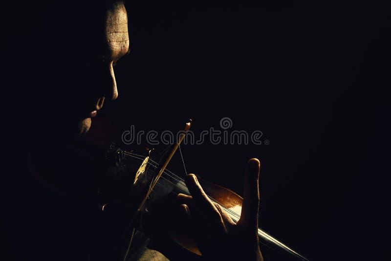Ato de um jogador do violino imagem de stock