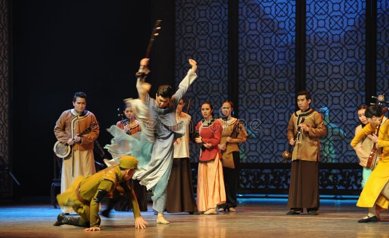 Ato vagado dos pulos- terceiro de eventos do drama-Shawan da dança do passado imagens de stock royalty free