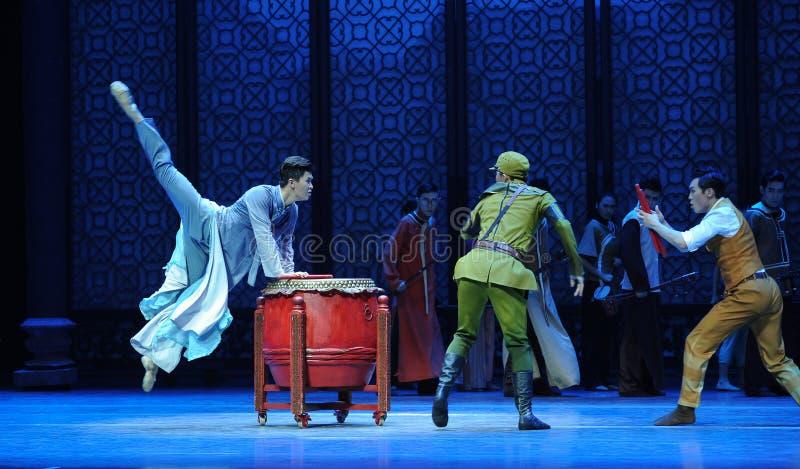 Ato vagado dos pulos- terceiro de eventos do drama-Shawan da dança do passado fotos de stock