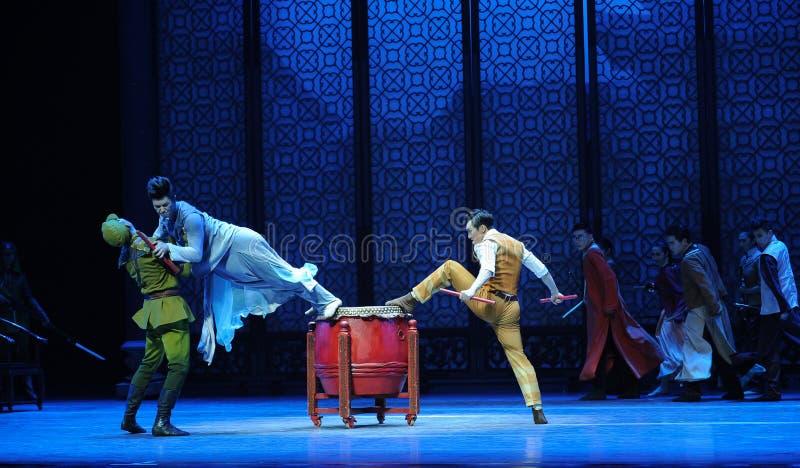 Ato vagado dos pulos- terceiro de eventos do drama-Shawan da dança do passado imagem de stock
