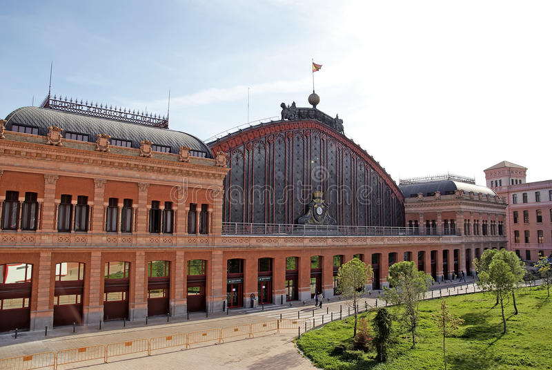 atocha马德里火车站 库存图片