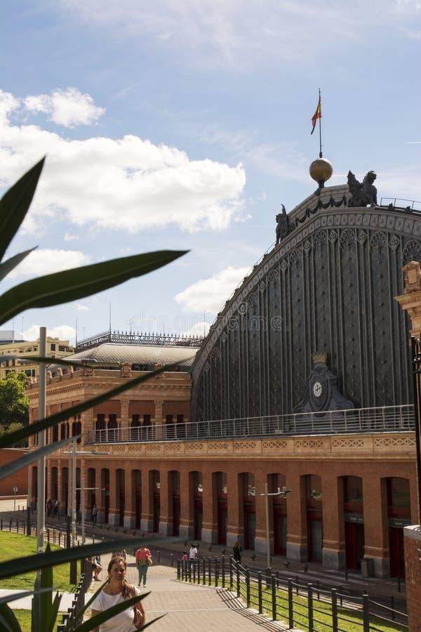 Atocha Railway Station in Madrid stock photos