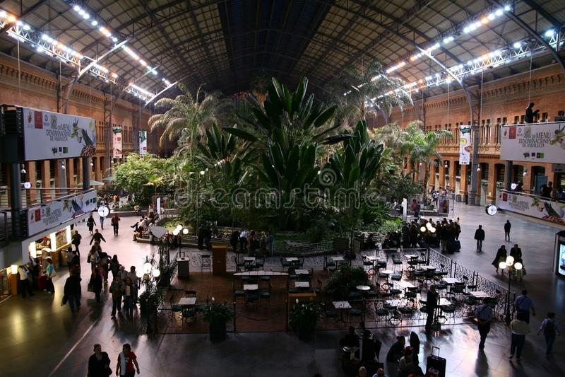 Atocha railway station in Madrid stock photo