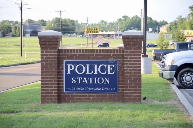 Atoka komenda policji, Atoka Tennessee zdjęcia royalty free