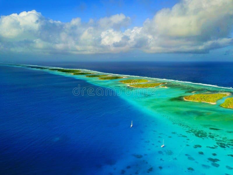 Atol em Marshall Islands fotografia de stock royalty free
