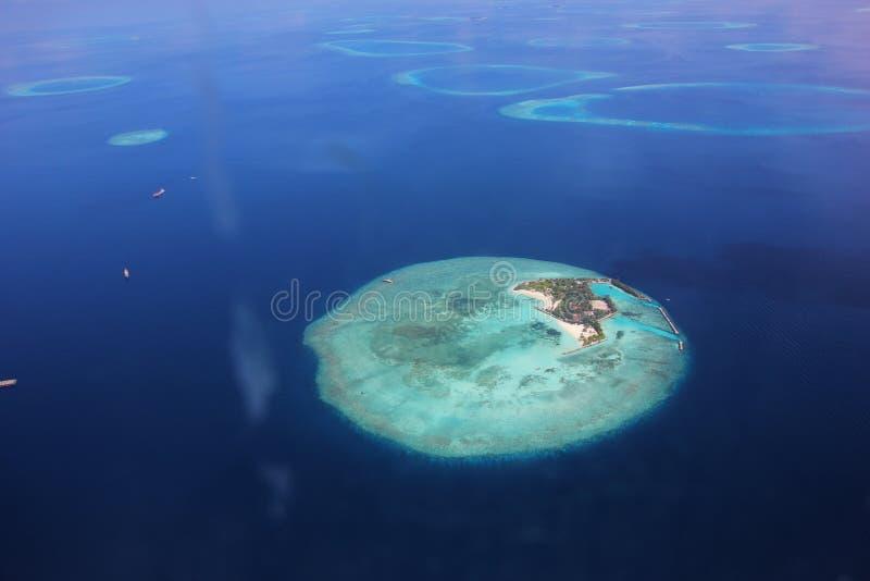 atol Maldivian obrazy stock