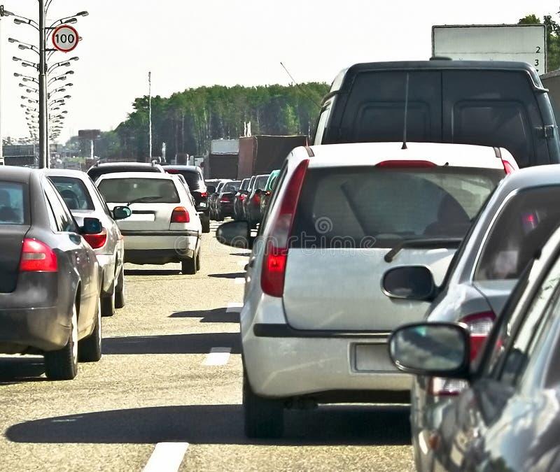 Atolar-tráfego foto de stock