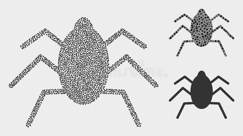 Atoleiro Tick Icons do vetor de Pixelated ilustração do vetor
