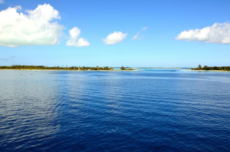 Fanning Island. This is the atoll of Fanning Island in the South Pacific. Fanning Island is situated south of Hawaii and it is a very small island with a typical stock images