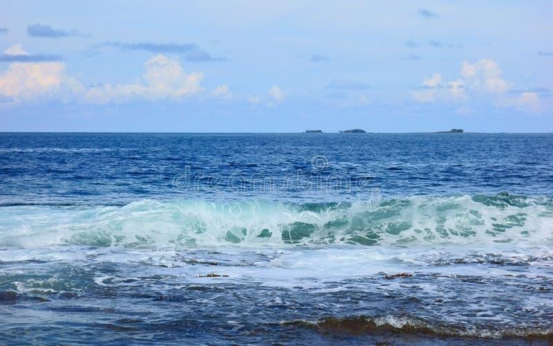 Atoll i Stilla havet arkivbild