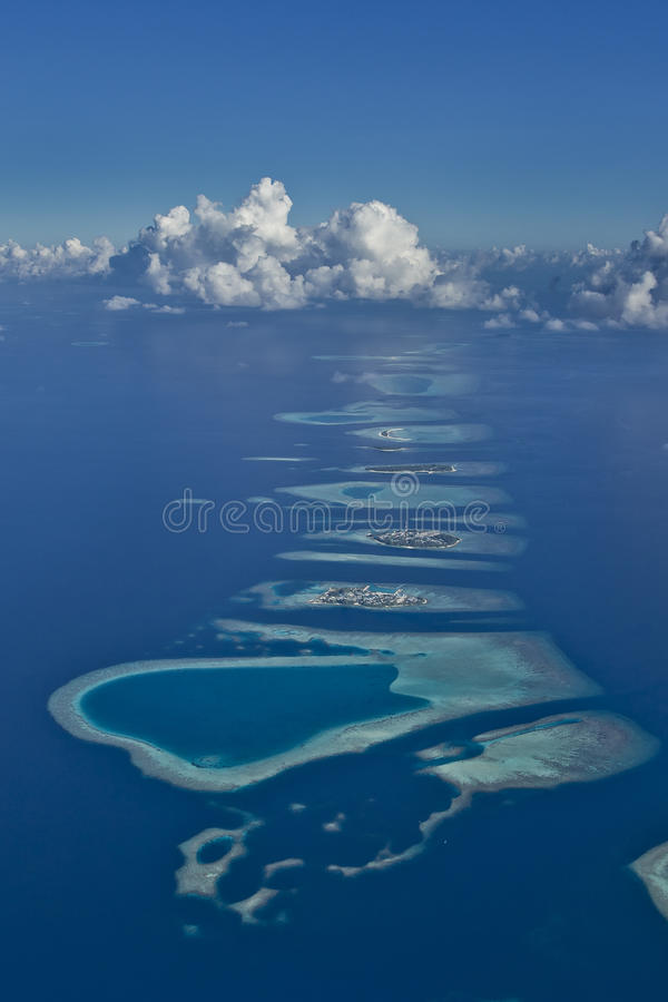 Atolli dei Maldives fotografie stock libere da diritti