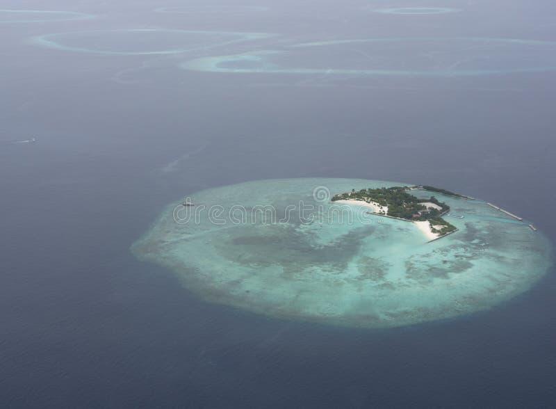 Atollo nei Maldives fotografia stock