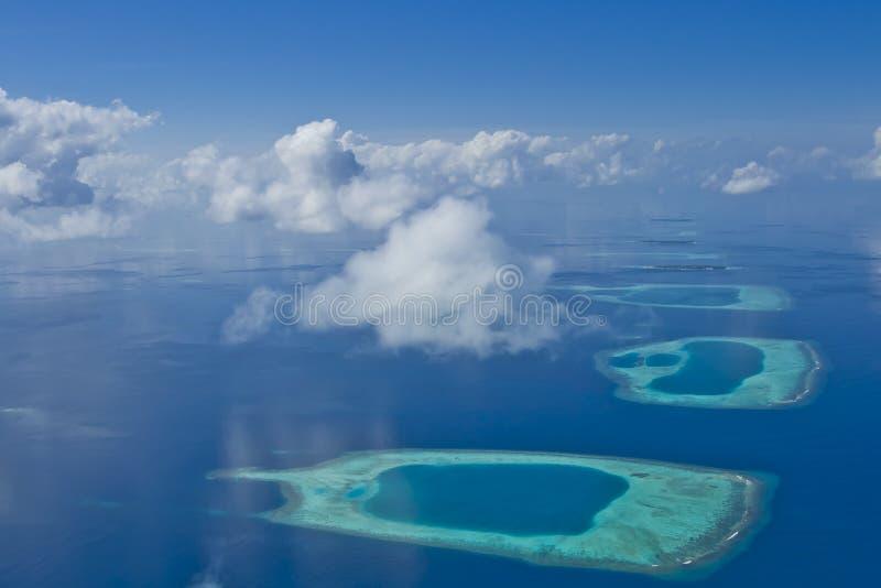 Atolls de Maldives fotografia de stock royalty free