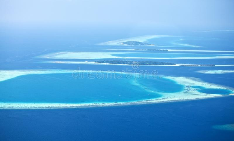 Atolls de Maldives fotos de stock