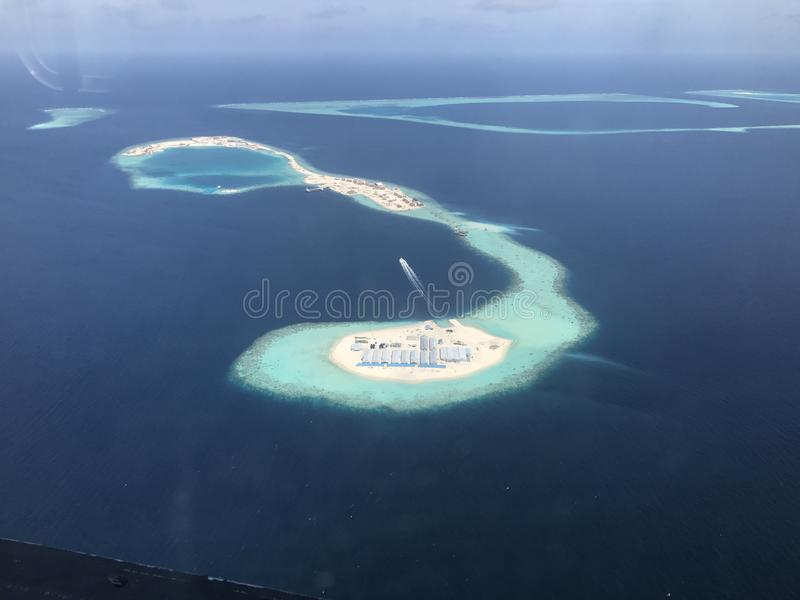 Atolls dos Maldives fotografia de stock