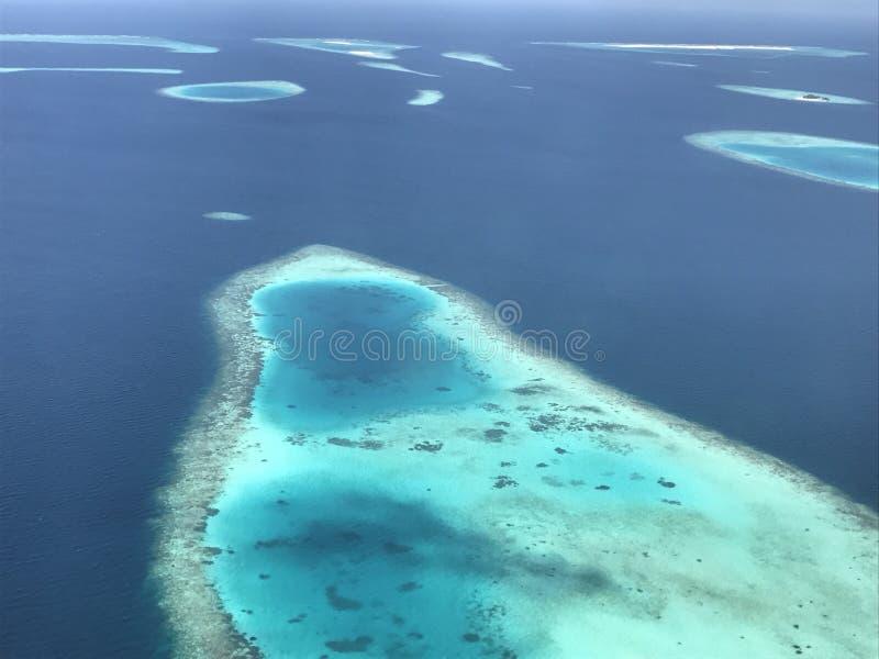 Atolls dos Maldives fotografia de stock royalty free