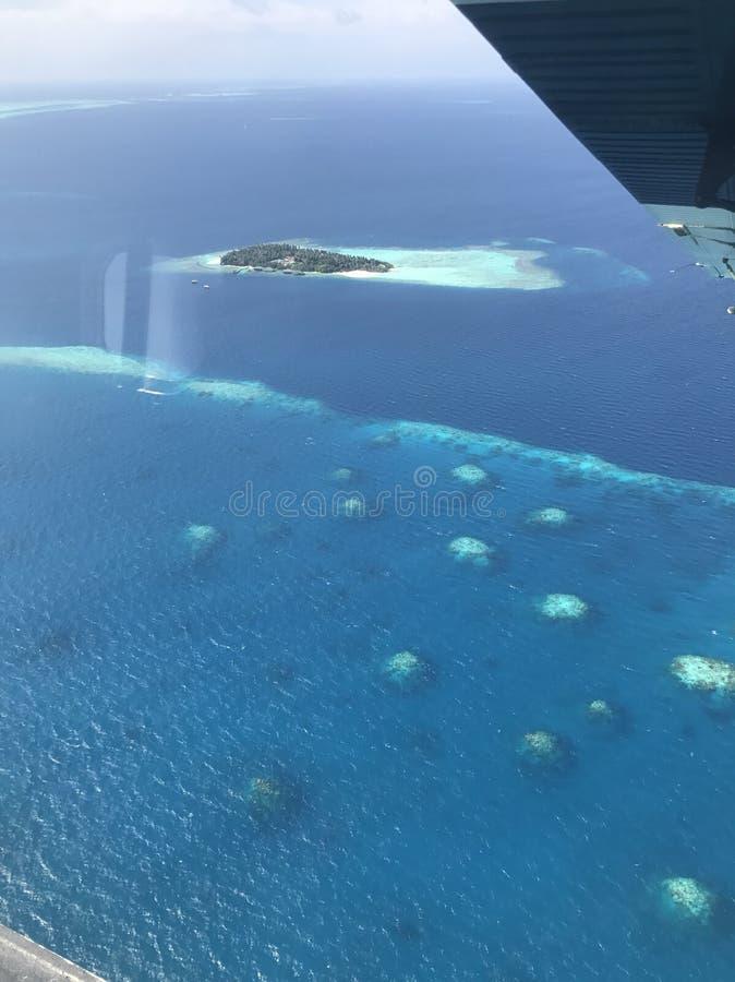 Atolls dos Maldives imagem de stock
